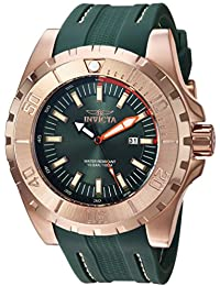 Men's 'Pro Diver' Quartz Stainless Steel and Polyurethane Casual Watch, Color:Green (Model: 23731)