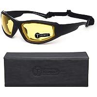 TERAISE Motorbril Veiligheid Skibril Verstelbare UV-bescherming Winddicht Stofdicht Anti-condens Zonnebril voor diverse…