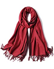 SOJOS Two-tone Scarf Cashmere Wool Wraps Shawls Women Large Soft Scarves SC302