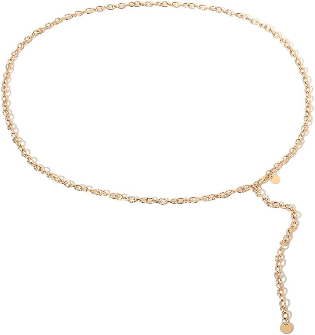 Tipo di Catena FeMereina Cintura Regolabile della Cintura della Vita Sottile delle Donne in Metallo