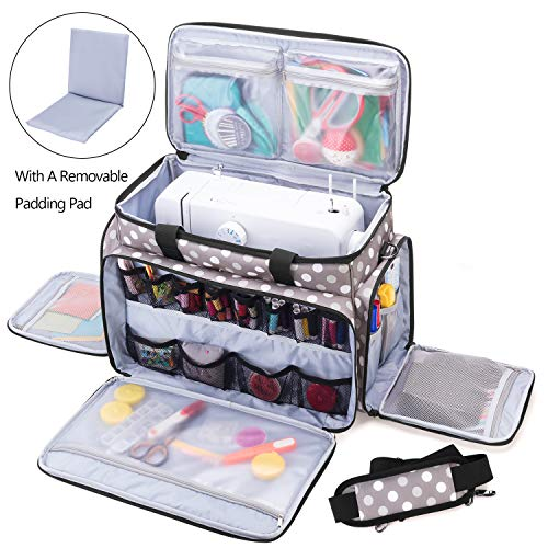 Buy Cheap Luxja Sewing Machine Carrying Bag with Removable Padding Pad, Travel Case for Sewing Machi...