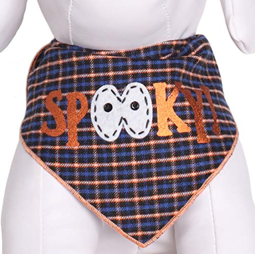 Tail Trends Halloween Dog Bandana Spooky Print (M) -