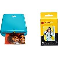 "Kodak Step Instant Photo Printer with Bluetooth/NFC, Zink Technology (Pink) with Kodak 2""x3"" Premium Zink Photo Paper…"
