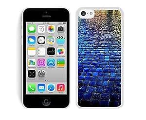 MMZ DIY PHONE CASEBINGO cheap price Blue Tiled Walkway The Stone Road iphone 5c Case White Cover