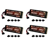 Venom 35C 3S 5000mAh 11.1V LiPo Battery with Universal Plug (EC3 Deans Traxxas Tamiya) x4 Packs