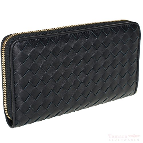 abro+ Piuma Flecht 027688-36 Geldbörse Leder 19x11x2,5cm black
