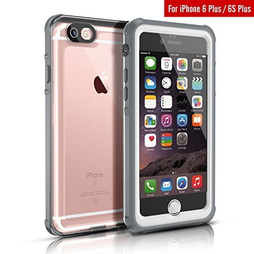 Waterproof Case For iPhone 6s Plus, FITFORT Clear Protective Cover IP68 Certified Snowproof...