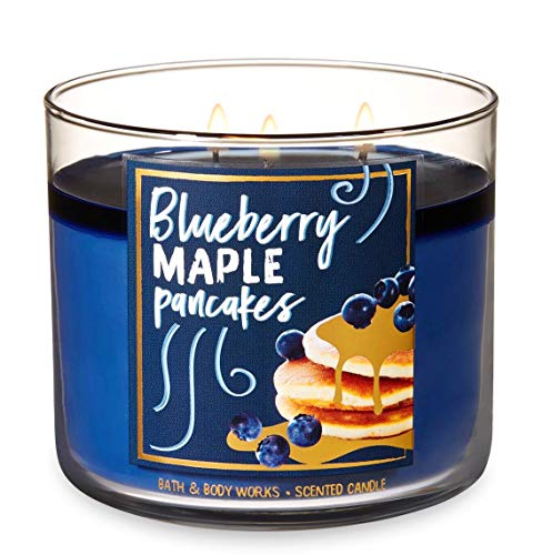 Bath and Body Works Blueberry Maple Pancakes Candle - Large 14.5 Ounce 3-wick Limited Edition Fall Cafe Candles by Bath & Body Works