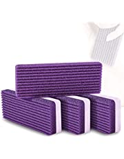 Pumice Stone Sponge Block 4 Pack by Bysiter Premium Foot File and Scrubber 2 in 1 Callus Remover for Feet Hands and Body, Perfect Pedicure Beauty Tools for Exfoliation to Remove Dead Skin (Purple)