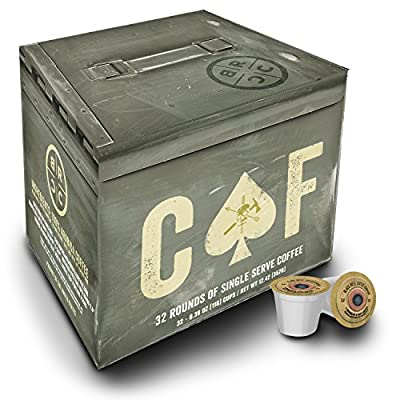 "Black Rifle Coffee Company CAF ""Caffeinated AF"" Coffee Rounds for Single Serve Brewing Machines"