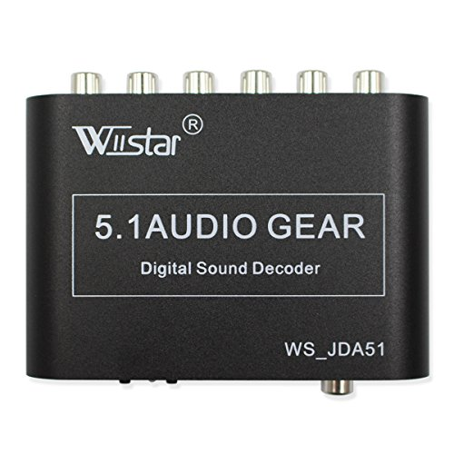 Pro Adc Analog Digital Converter (Wiistar 5.1 Audio Decoder Digital AC3 Optical to Stereo Surround Analog HD 2 SPDIF Ports HD Audio Rush for HD Players / DVD / XBOX360)