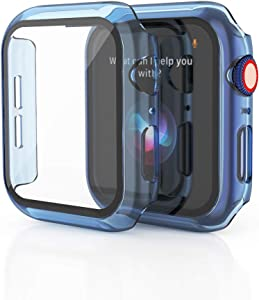 KEYSJEFF Watch Case Compatible with Apple Watch Cover Case with Glass Screen Protector All Around Hard PC Case Protective Cover for Iwatch SE/6/5/4/3 KJ81018US (42mm,#4)