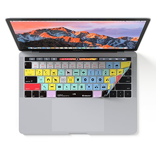 Adobe Premiere Pro CC Keyboard Cover | Skin fits Apple MacBook Pro Touch Bar 13 & 15