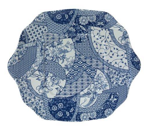Spode Penny Lane Medley Blue 11-Inch Square Cake Plate