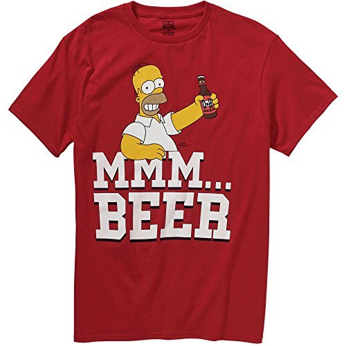 Mmm Beer - The Simpsons Simpsons Homer Mmm Beer Men's Graphic Tee (Small)