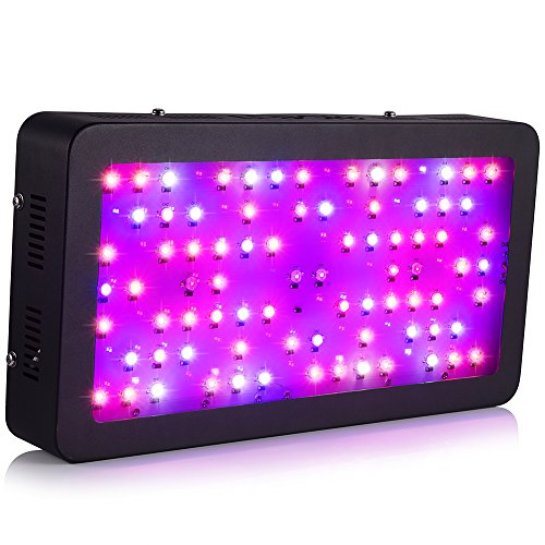 Ledgle LED Grow Light 400W Full Spectrum Led Plant Light 80X5W with UV and IR for Hydroponic Indoor Greenhouse Garden Plant Growing Flowing by Ledgle