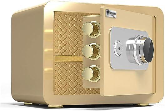 XSJZ Caja Fuerte Caja de Seguridad Mecánica, Contraseña de Acero Mecánico Con Llave de Seguridad para La Familia Cash Almacenaje de La Joyería Cajas Fuertes (Color : Gold): Amazon.es: Bricolaje y herramientas