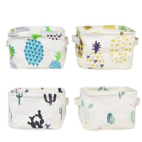Pineapple Nursery Storage Baskets Cactus Bins, Small, Set of (Gift Bin Set)