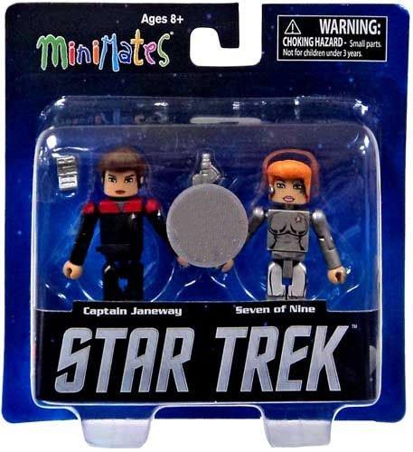 Star Trek Legacy Wave 1 Minimates Action Figure Captain Janeway /& Seven of Nine Diamond Select Toys