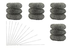 """12 pack of washing machine lint traps - comes with 12 ties / clamps / cords these washing machine lint traps were created to keep lint, hair, and even """"lost"""" tissues from clogging your laundry sink. Normally, when a washing machine drains int..."""