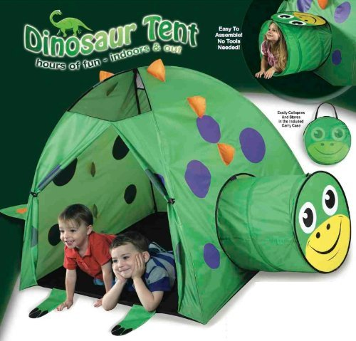 Dinosaur Play Tent and Tunnel- Indoor Outdoor Collapsible Play Tent by Orange Onions