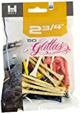 H2 Golf Glittees Quality Wood Tees (50-Count), 2 3/4-Inch, Mixed
