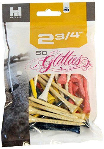 H2 Golf Glittees Quality Wood Tees (50-Count), 2 3/4-Inch, Mixed by H2 Golf (Image #1)