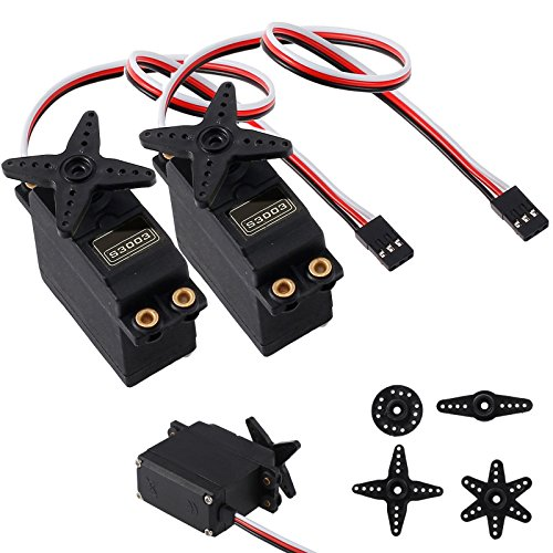(CAMWAY 2PCS Standard High Torque Servo for S3003 Futaba RC Car Plane Boat Helicopter)