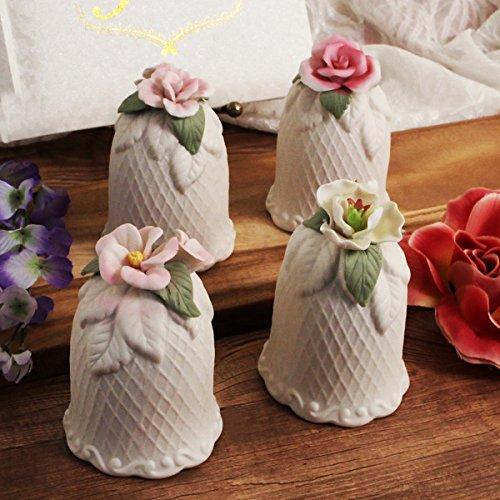 FavorOnline Flower Bell Assorted Porcelain Wedding Bell - Set of 7