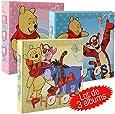 Set di 3 album per foto, Winnie The Pooh, colore: rosa/blu/giallo