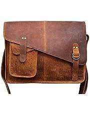 TUZECH Buffalo Hunter Leather Bag Laptop Messenger/College Bag Men and Women Fits Laptop Up to