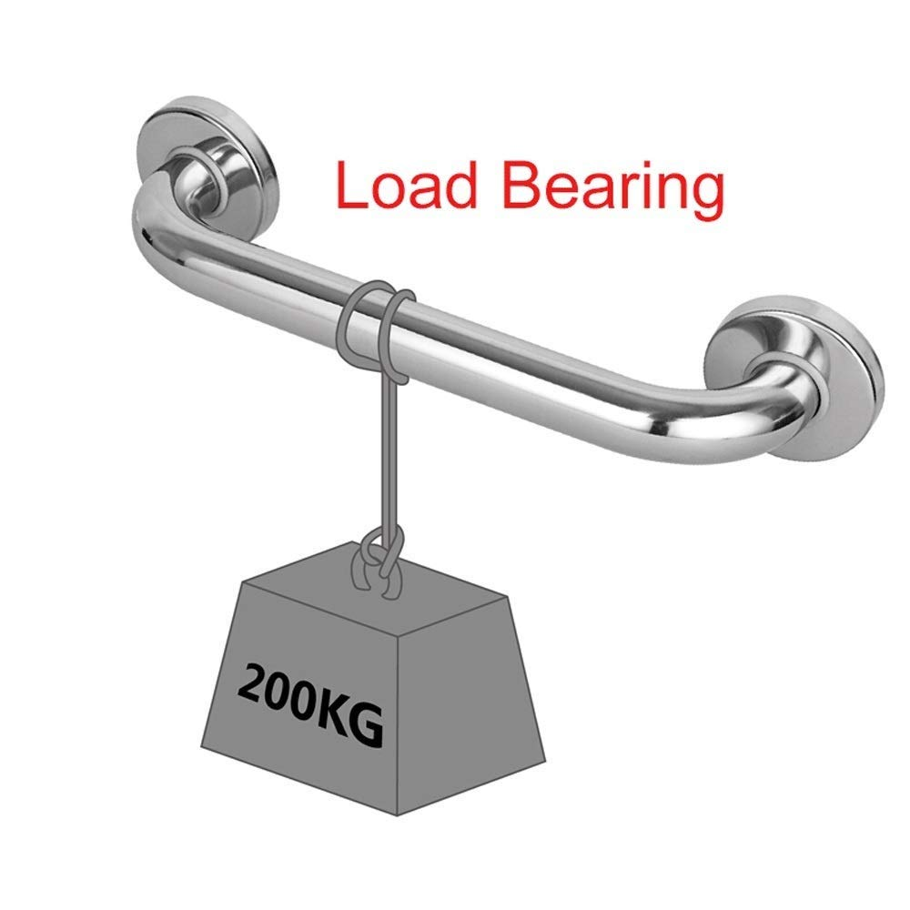 LXDfs Bathroom Handrail ,304 Stainless Steel Safety Non-slip Senior Bathroom Handle Toilet Bowl For Bathroom Straight Handrails Bearing 200KG Color : Silver, Size : 30CM