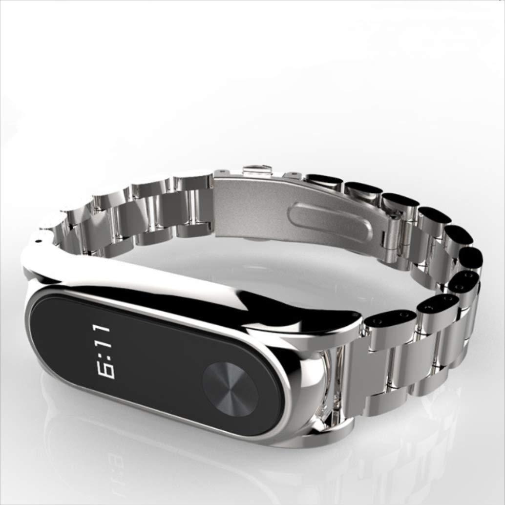 Correas xiaomi Band 2, ☀️Modaworld Pulsera de Lujo del Metal de la Correa de muñeca Correa de Repuesto de Acero Inoxidable para Reloj Inteligente Xiaomi ...
