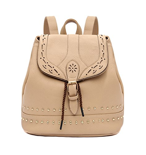 EasyHui Women's Small Soft Leather Backpack Purse Fashion Girls Casual Shoulder Bag