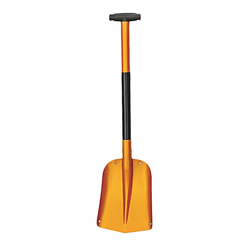 Collapsible Aluminum Snow Shovel with Telescoping Handle Lightweight Emergency Shovel Scoop Snow Removal Tools for Car Courtyard - Gold