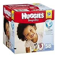 Huggies Snug & Dry Diapers, Size 5 (over 27 Lb), Disney Baby, 58 Count