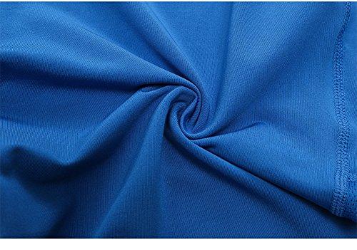 Blu Alta Pantaloncini Slim Da Palestra A Yoga Allenamento Vita Ciclismo Corsa Shapewear Active Mxssi Donna p4wY6n6x