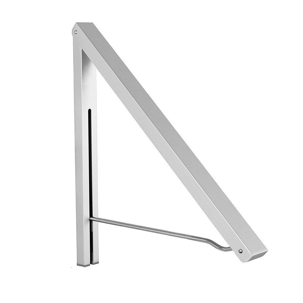 Anjuer Perchero de Pared Aluminio Percha Plegable para Ahorrar Espacio Plata