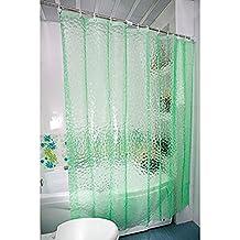 Kipten 3D Water Cube EVA Shower Curtain, Environmental Protection, Waterproof, Mildew 72x72 Inch Shower Curtain(Green))
