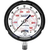 Winters PPC Series StabiliZR Phenolic Dual Scale Pressure Gauge with Safety Blowout Back, 0-200 psi/kpa, 4-1/2'' Dial Display, +/-0.5% Accuracy, 1/4'' NPT Bottom Mount