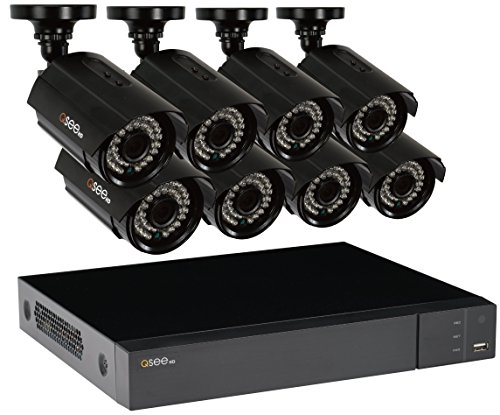 - Q-See Surveillance System QTH163-8CN-2 16-Channel HD Analog DVR with 2TB Hard Drive 8-1080p Security Cameras (Black)