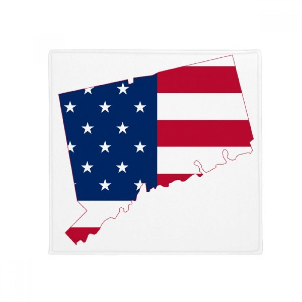 DIYthinker Connectic USA Map Stars Tripes Flag Shape Anti-Slip Floor Pet Mat Square Home Kitchen Door 80Cm Gift