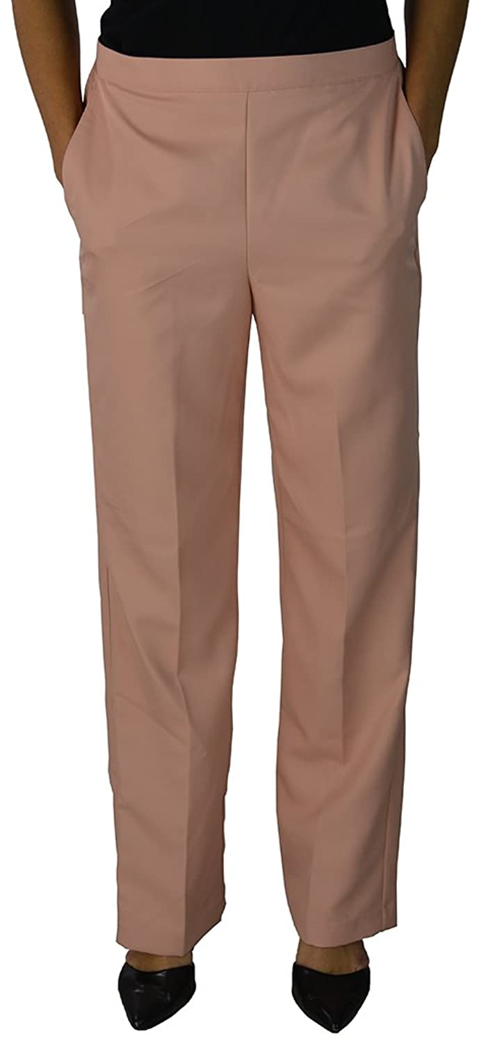 Alfred Dunner Women's Loose Leg Pants 8 Peach