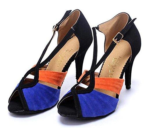 Femmes Chaussures Velours Ballroom Latin Taogo Danse Pompes Sandales Taille 35to42