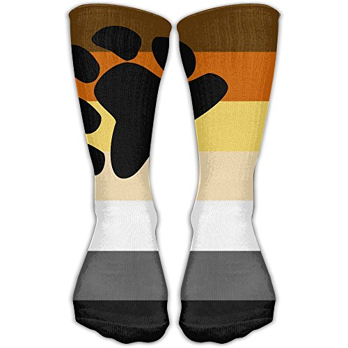 Women's Men's Classics Socks Bear And Cub Community Pride Flag Athletic Stockings 30cm Long Sock One Size