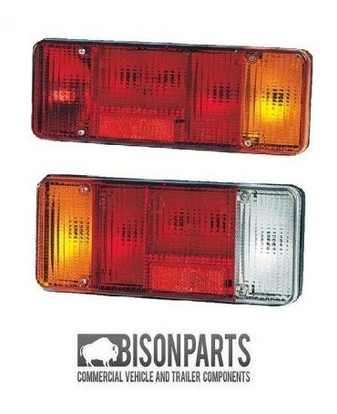 Rear Tail Light Lamp Lens - Fits RH & LH (2x Supplied) BISON PARTS