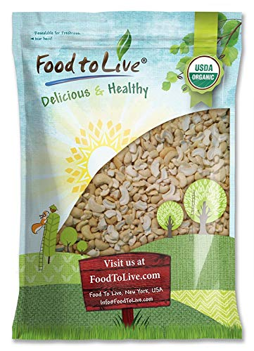 Organic Cashew Pieces, 16 Pounds - Non-GMO, Kosher, Raw, Vegan, Unsalted, Unroasted, Bulk - by Food to Live by Food to Live (Image #7)