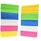 Cleaning Solutions 79130 Microfiber Cleaning Cloths (Pack of 50). Large Size Ideal for Home, Kitchen, Auto , Glass and Pets. 5 Colors Included.
