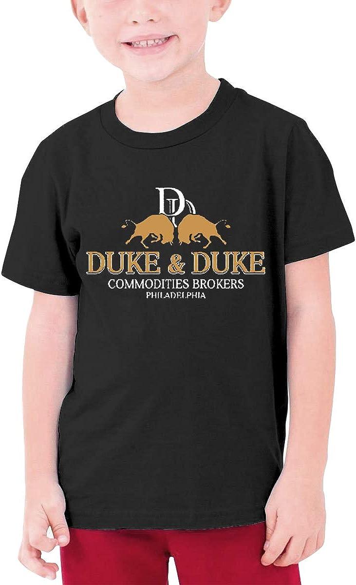 Kids Soft Cotton T Shirt Trading Places Duke and Duke Stylish Crewneck Short Sleeve Tops Black