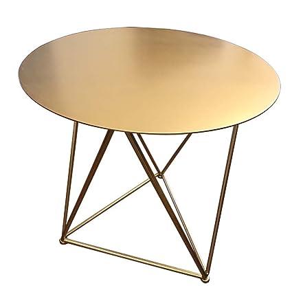 Wrought Iron Round Table.Amazon Com Coffee Table Golden Wrought Iron Round Table Geometric